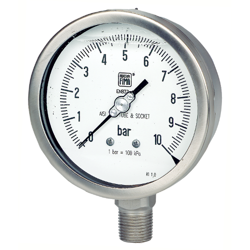 All stainless steel pressure gauge resistant to vibration and pressure pulsations