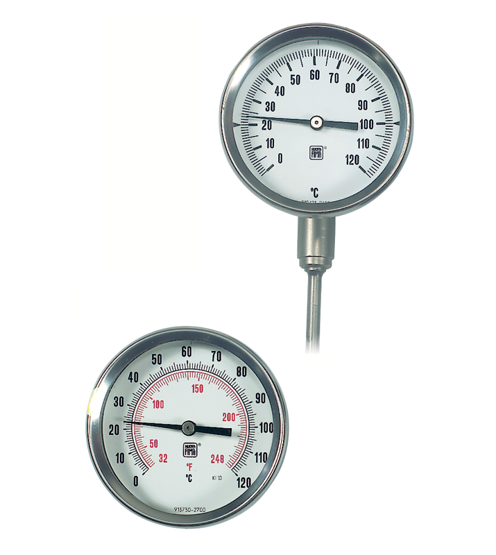 Bimetalic thermometers